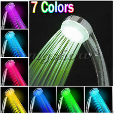 7 Color LED Romantic Light Bright Water Bath Home Bathroom Shower Head Glow New