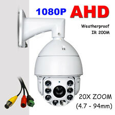CCTV Security Coaxial AHD 1080P High Speed Dome PTZ Camera 20X ZOOM Auto Focus