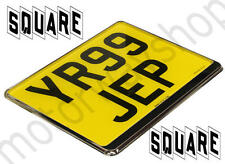 Square Number Plate Surround Chrome For Car 4x4 Van NEW