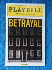 Betrayal - Ethel Barrymore Theatre Playbill - Opening Nite - October 27th, 2013