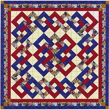 Quilt Kit/Patriotic Woven Chain/Pre-cut Fabric Ready To Sew/EXPED ****