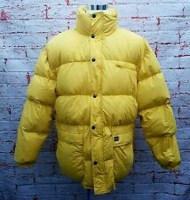 LOTHAR'S Mens XXXXL Extreme Down Jacket Yellow Ski Puffer 750 Fill Vtg 90s 4XL
