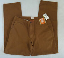 "NWT $58 D2 STRAIGHT FIT  DOCKERS ""OFF THE CLOCK KHAKI"" PANTS-BROWN-36X29"