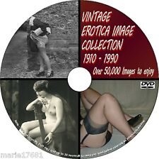 50000+ IMAGE VINTAGE EROTIC ART GLAMOUR BURLESQUE COLLECTION PCDVD 1900/1980 NEW
