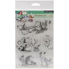 CHRISTMAS JOY-Penny Black Clear Art Acrylic Stamps-Stamping Craft-Hedgehog-Cats