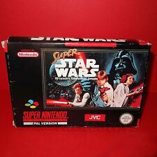 VINTAGE SUPER NINTENDO ENTERTAINMENT SYSTEM SNES SUPER STAR WARS CARTRIDGE GAME