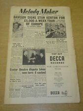 MELODY MAKER 1953 APRIL 11 STAN KENTON HAROLD DAVISON EXETER THEATRE WINNICK +