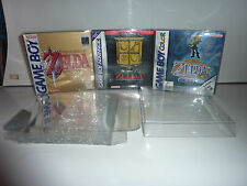 2 x nintendo game boy box protectors .4 thick advance high quality plastic case