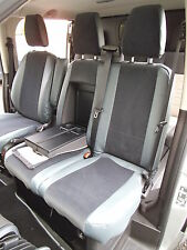 FORD TRANSIT CUSTOM LOW ROOF VAN SEAT COVERS -142 +MID GREY LEATHERETTE