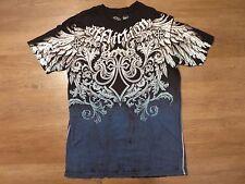 Affliction Live Fast Men's Black/Blue/White Graphic T-Shirt, Sz M
