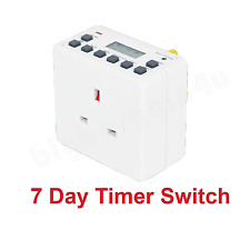 12/24 hora 7 Día LCD digital electrónica Interruptor Plug-in de temporizador programable Socket