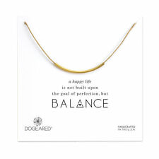 Dogeared Gold Dipped Balance Adjustable Natural Waxed Cotton Cord Necklace