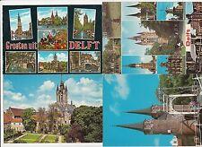 Lot 4 cartes postales anciennes PAYS-BAS HOLLANDE NEDERLAND DELFT 3