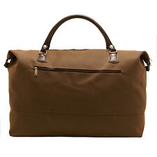 HOME WORKS - LARGE BROWN MOCK NUBUCK EXPANDABLE TRAVEL HOLDALL