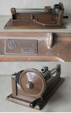 VINTAGE OLD CAST-IRON TABLE PENCIL SHARPENER SELLIER & BELLOT / CZECH / 1940s