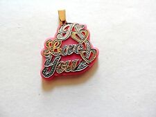"""Modern Classic """"I Love You"""" Silver & Gold Plate Pendant"""