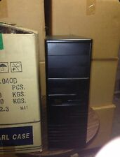 Black Vintage AT Computer Case Mid Tower Build IBM PC 386 486 Pentium BOX DOS