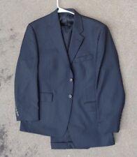 fine Mens black  pin stripe suit by Ralph Lauren size 42R
