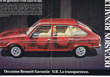 PUBLICITE ADVERTISING 084 1982 RENAULT Occasion garantie OR  (2 pages)