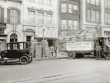 """*Postcard-""""Truck Loaded with Tires...@ Warehouse of Tires"""" (#238)"""