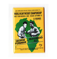 MUHAMMAD ALI vs FOREMAN / RUMBLE IN THE JUNGLE - VINTAGE BOXING POSTER MAGNET