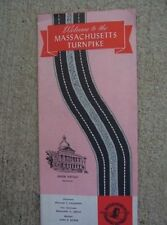 1964 Massachusetts Turnpike Road Map Toll Chart Interchanges Trip Directions  L