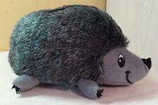 """Gray Plush Hedgehog Porcupine Stuffed animal 12"""" Stitched Eyes Dog Toy NWOT"""