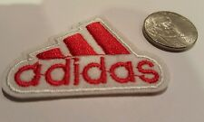 "ADIDAS PATCH  Logo PATCH embroidered iron on Patches   patch 2"" x 1.5""  Red A1"