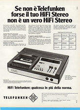 (AM) EPOCA974-PUBBLICITA'/ADVERTISING-1974-TELEFUNKEN MC 2200 HIFI