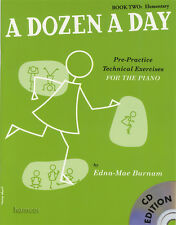 A Dozen A Day Book 2 Elementary Music Book/CD Technical Exercises for the Piano