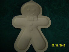 "Superstone 10"" Shortbread Pan/Cookie Mold, Gingerbread Man, Christmas"