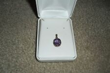 14K ROSE GOLD WYLAND GALLERY NA HOKU 2 CT AMETHYST SCROLL WK PENDANT EUC $580