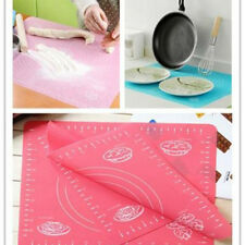 Kitchen Roll Cut Mat Rolling Cutting Pad Fondant Cake Dough Clay Calibration CN