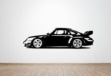 Porsche 911 Clubsport RS (993)  wall art decal / sticker. (HUGE)