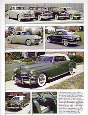 1949 Chrysler + New Yorker + Convertible + Town & Country Article - Must See !!