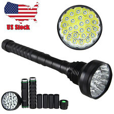 32000LM 24x XM-L T6 LED Flashlight 5 Modes Torch 26650/18650 Camping Lamp Light