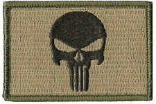 Punisher Tactical Morale Patch Multitan 3 x 2 inch velcro PATCH