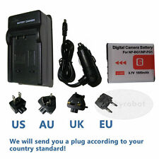 Battery + Charger for Sony Cyber-shot DSC-W50 DSCW50 6MP Digital Camera NP-BG1