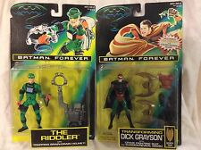1995 Kenner Lot Of (2) Batman Forever Action Figures The Riddler & Dick Grayson