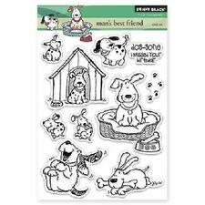 PENNY BLACK RUBBER STAMPS CLEAR MAN'S BEST FRIEND STAMP SET 2015