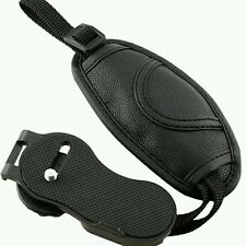 New Camera Hand Grip Wrist Strap Belt  Leather Black Round Design for all SLR