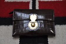 Ralph Lauren Collection Purple Label Brown Alligator Cooper Wallet