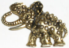 VINTAGE GOLDTONE ELEPHANT PIN MID 20TH CENTURY UNMARKED