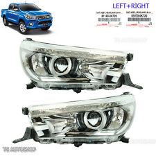 Set Led Head Lamp Light Projector OEM For Toyota Hilux Revo Sr5 M70 M80 15 2016