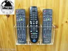 Triple TV Television Cable Satellite Decoder Receiver Remote Control Wall Holder