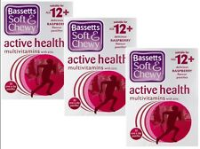 3 x 30 Bassetts 12+ Multivitamins Soft & Chewy Active Health With Zinc Raspberry