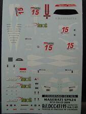 DECALS 1/43 MASERATI SPA24 #15 FIA GT 2008   - COLORADO  43195
