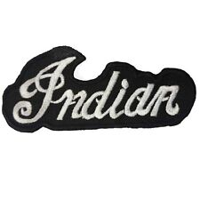 Indian Black Motorcycle Embroidered Patch