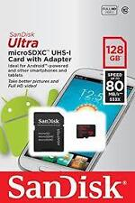 SanDisk Ultra 128GB MicroSDXC Memory Card (Upto 80 MB/s Speed) with Adapter