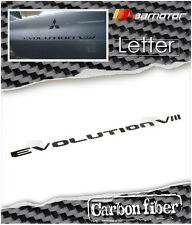 Carbon Fiber EVOLUTION VIII Trunk Rear Badge Emblem for Mitsubishi EVO 5 6 7 & 8